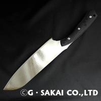 KU KU Damascus mirror finish Santoku CAT ver