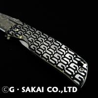 Gentleman knife Black GS pattern Damascus
